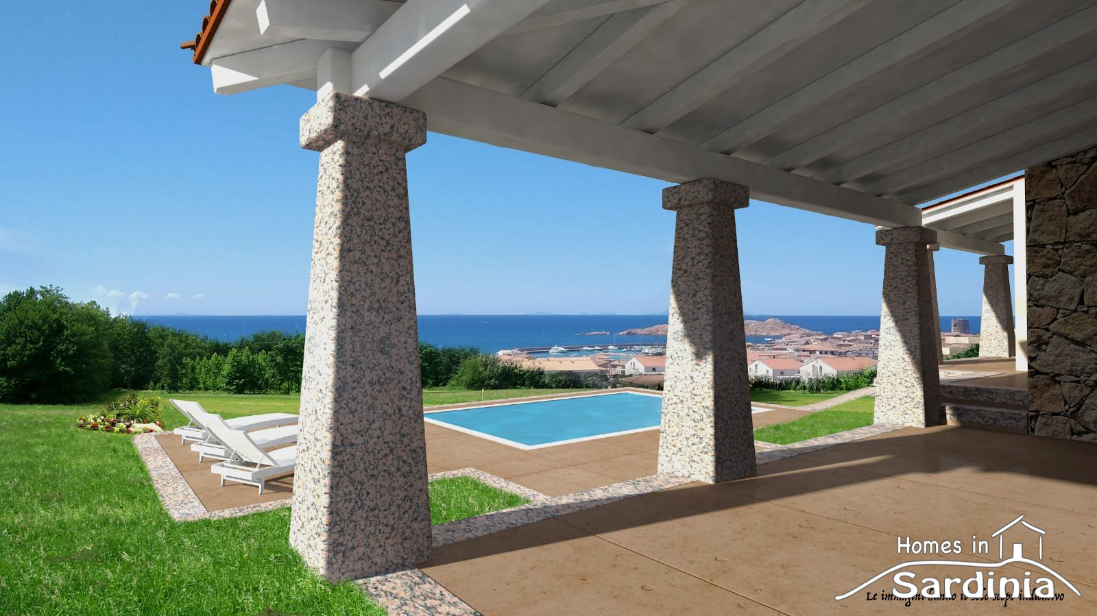 Appartamenti e ville singole con splendida vista mare a Isola Rossa, Nord Sardegna.